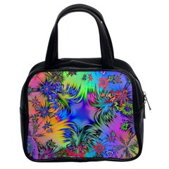 Star Abstract Colorful Fireworks Classic Handbags (2 Sides)