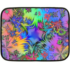 Star Abstract Colorful Fireworks Fleece Blanket (mini)