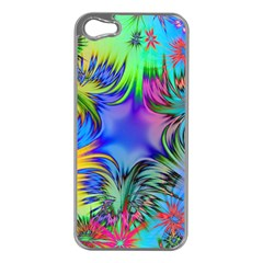 Star Abstract Colorful Fireworks Apple Iphone 5 Case (silver)
