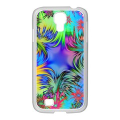 Star Abstract Colorful Fireworks Samsung Galaxy S4 I9500/ I9505 Case (white)