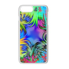 Star Abstract Colorful Fireworks Apple Iphone 8 Plus Seamless Case (white) by Nexatart