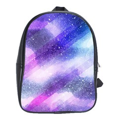 Background Art Abstract Watercolor School Bag (large)