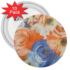 Texture Fabric Textile Detail 3  Buttons (10 Pack)  by Nexatart
