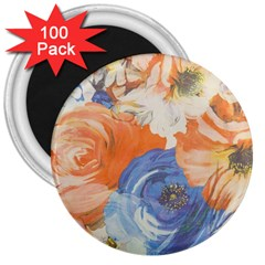 Texture Fabric Textile Detail 3  Magnets (100 Pack) by Nexatart