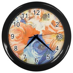 Texture Fabric Textile Detail Wall Clocks (black) by Nexatart