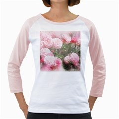 Flowers Roses Art Abstract Nature Girly Raglans