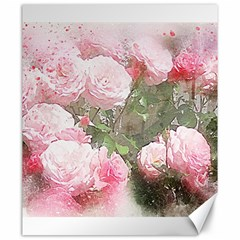 Flowers Roses Art Abstract Nature Canvas 20  X 24