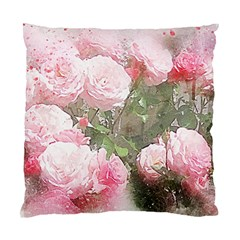 Flowers Roses Art Abstract Nature Standard Cushion Case (two Sides)