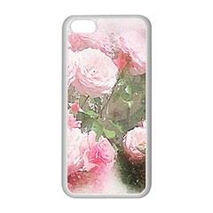 Flowers Roses Art Abstract Nature Apple Iphone 5c Seamless Case (white)
