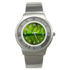 Leaf Nature Green The Leaves Stainless Steel Watch