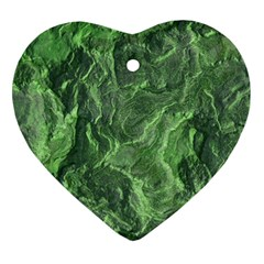 Geological Surface Background Heart Ornament (two Sides)