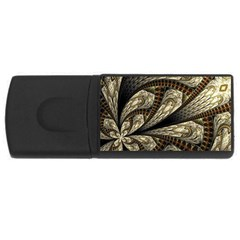 Fractal Abstract Pattern Spiritual Rectangular Usb Flash Drive