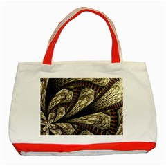 Fractal Abstract Pattern Spiritual Classic Tote Bag (red)