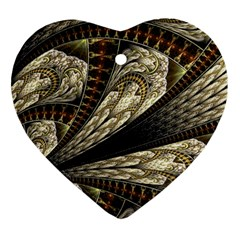 Fractal Abstract Pattern Spiritual Heart Ornament (two Sides)
