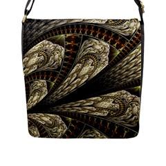 Fractal Abstract Pattern Spiritual Flap Messenger Bag (l)