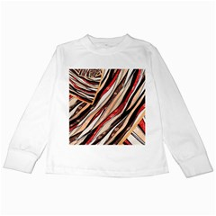 Fabric Texture Color Pattern Kids Long Sleeve T Shirts