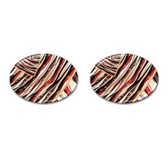 Fabric Texture Color Pattern Cufflinks (oval) by Nexatart
