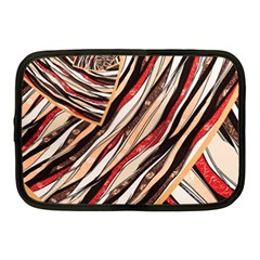 Fabric Texture Color Pattern Netbook Case (medium)  by Nexatart