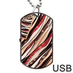 Fabric Texture Color Pattern Dog Tag Usb Flash (two Sides)