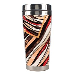 Fabric Texture Color Pattern Stainless Steel Travel Tumblers