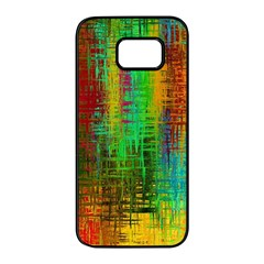 Color Abstract Background Textures Samsung Galaxy S7 Edge Black Seamless Case