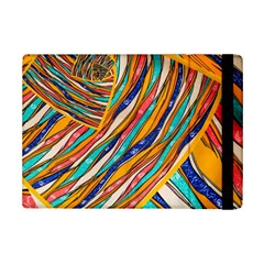 Fabric Texture Color Pattern Ipad Mini 2 Flip Cases by Nexatart
