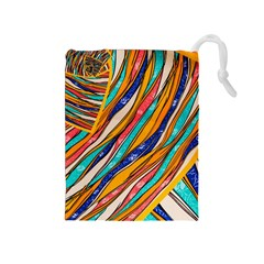 Fabric Texture Color Pattern Drawstring Pouches (medium)