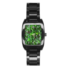 The Leaves Plants Hwalyeob Nature Stainless Steel Barrel Watch by Nexatart