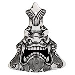 Japanese Onigawara Mask Devil Ghost Face Ornament (Christmas Tree)  Front