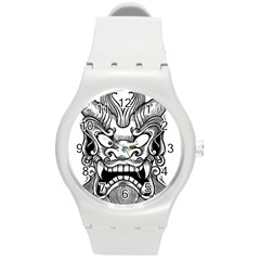 Japanese Onigawara Mask Devil Ghost Face Round Plastic Sport Watch (m) by Alisyart