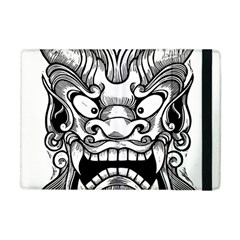 Japanese Onigawara Mask Devil Ghost Face Apple Ipad Mini Flip Case by Alisyart