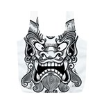 Japanese Onigawara Mask Devil Ghost Face Full Print Recycle Bags (M)  Back