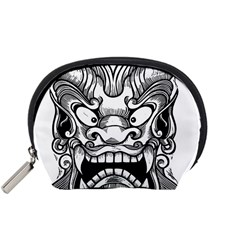 Japanese Onigawara Mask Devil Ghost Face Accessory Pouches (small)  by Alisyart