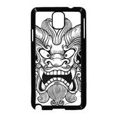 Japanese Onigawara Mask Devil Ghost Face Samsung Galaxy Note 3 Neo Hardshell Case (black)