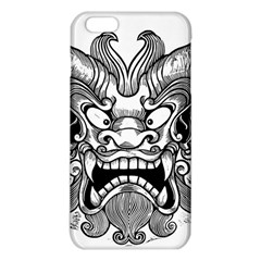 Japanese Onigawara Mask Devil Ghost Face Iphone 6 Plus/6s Plus Tpu Case by Alisyart