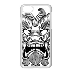 Japanese Onigawara Mask Devil Ghost Face Apple Iphone 8 Seamless Case (white) by Alisyart