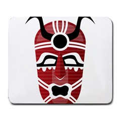 Africa Mask Face Hunter Jungle Devil Large Mousepads