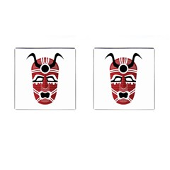 Africa Mask Face Hunter Jungle Devil Cufflinks (square) by Alisyart