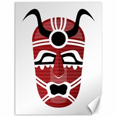 Africa Mask Face Hunter Jungle Devil Canvas 12  X 16   by Alisyart