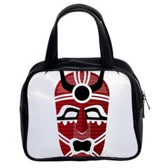 Africa Mask Face Hunter Jungle Devil Classic Handbags (2 Sides) by Alisyart