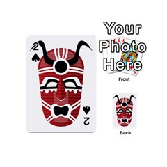 Africa Mask Face Hunter Jungle Devil Playing Cards 54 (mini)  by Alisyart