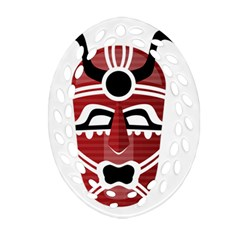 Africa Mask Face Hunter Jungle Devil Oval Filigree Ornament (two Sides)