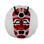 Africa Mask Face Hunter Jungle Devil Standard 15  Premium Round Cushions Front