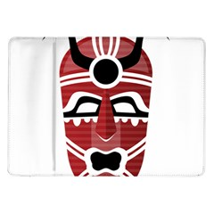 Africa Mask Face Hunter Jungle Devil Samsung Galaxy Tab 10 1  P7500 Flip Case