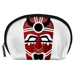 Africa Mask Face Hunter Jungle Devil Accessory Pouches (large)  by Alisyart