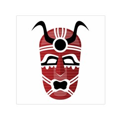 Africa Mask Face Hunter Jungle Devil Small Satin Scarf (square)