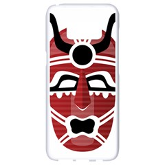 Africa Mask Face Hunter Jungle Devil Samsung Galaxy S8 White Seamless Case by Alisyart