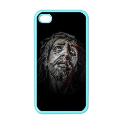 Jesuschrist Face Dark Poster Apple Iphone 4 Case (color) by dflcprints