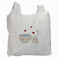 Cute Tea Recycle Bag (one Side) by Valentinaart