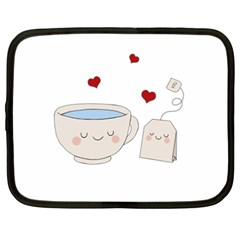 Cute Tea Netbook Case (xxl)  by Valentinaart
